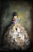 mujer entre libros